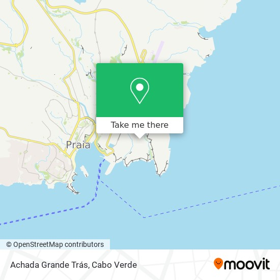 Achada Grande Trás mapa