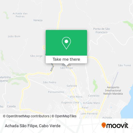 Achada São Filipe mapa