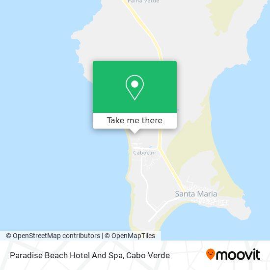 Paradise Beach Hotel And Spa mapa