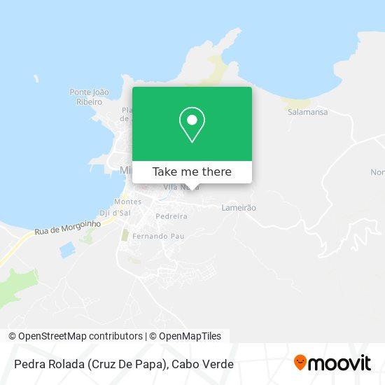Pedra Rolada (Cruz De Papa) mapa