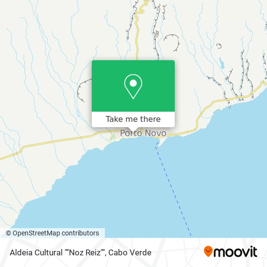 "Aldeia Cultural """"Noz Reiz"""" mapa"