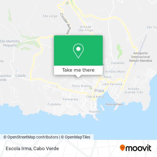 Escola Irma mapa