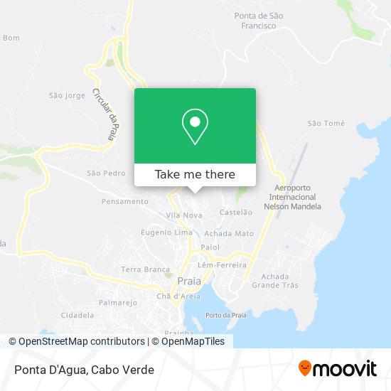 Ponta D'Agua mapa