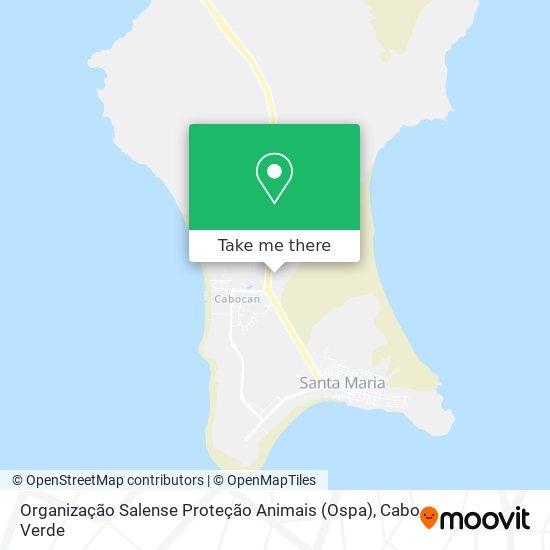 Organização Salense Proteção Animais (Ospa) mapa