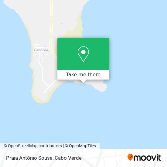 Praia António Sousa mapa