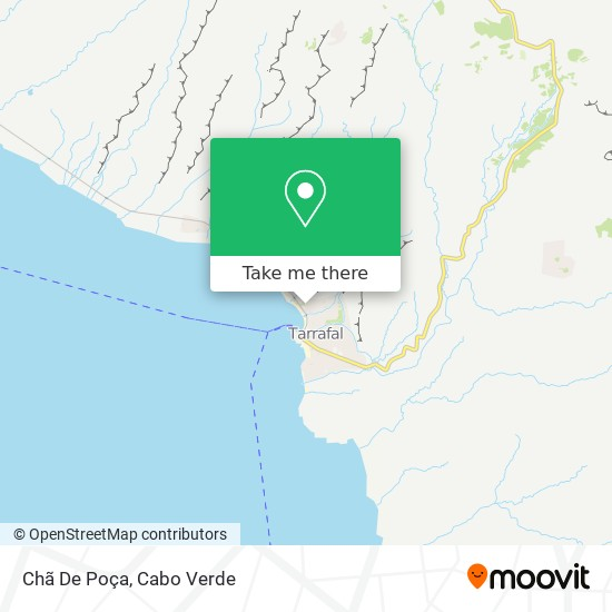 Chã De Poça mapa