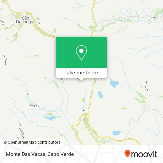 Monte Das Vacas mapa