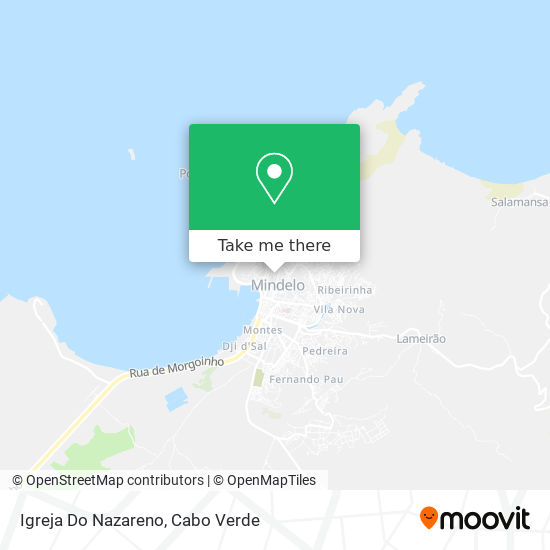 Igreja Do Nazareno mapa