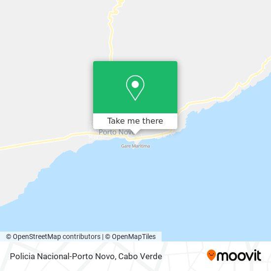 Policia Nacional-Porto Novo mapa
