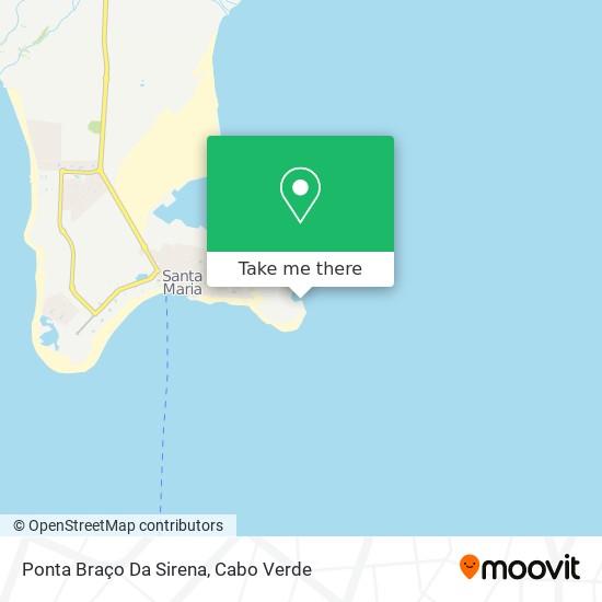 Ponta Braço Da Sirena mapa
