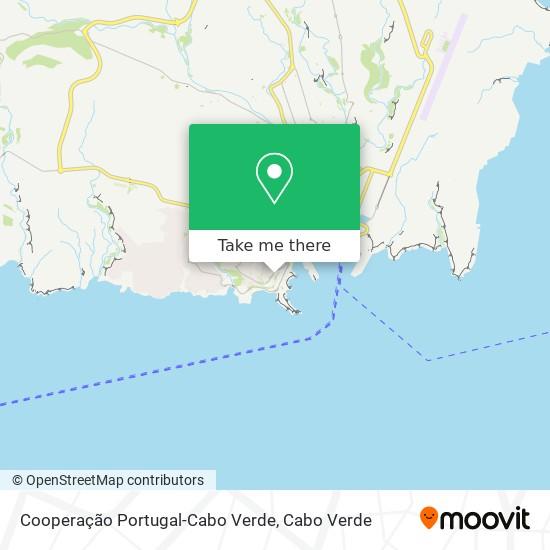 Cooperação Portugal-Cabo Verde mapa