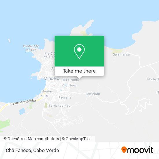 Chã Faneco mapa