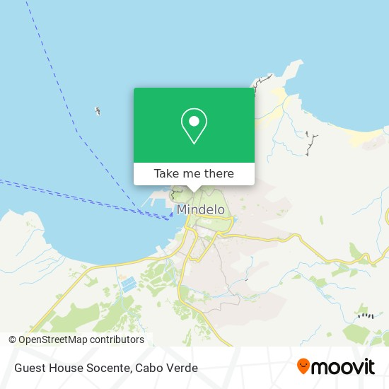 Guest House Socente mapa