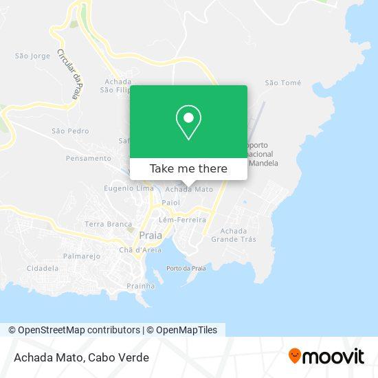 Achada Mato mapa