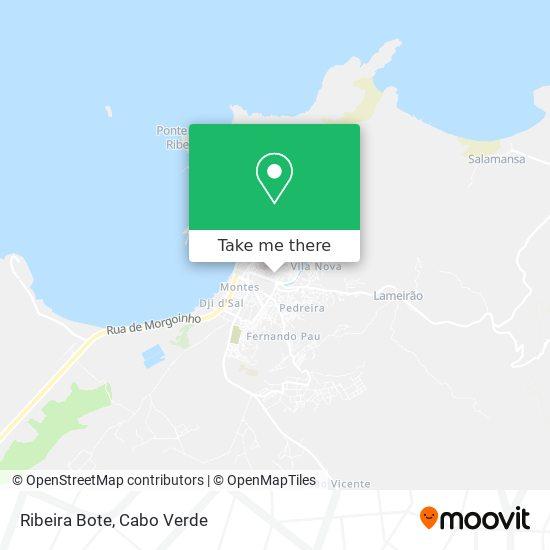 Ribeira Bote mapa
