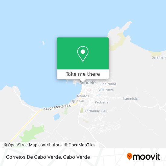 Correios De Cabo Verde mapa