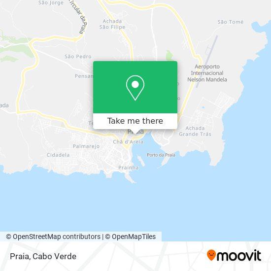 Praia mapa