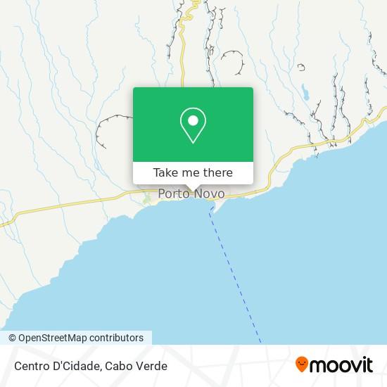 Centro D'Cidade mapa