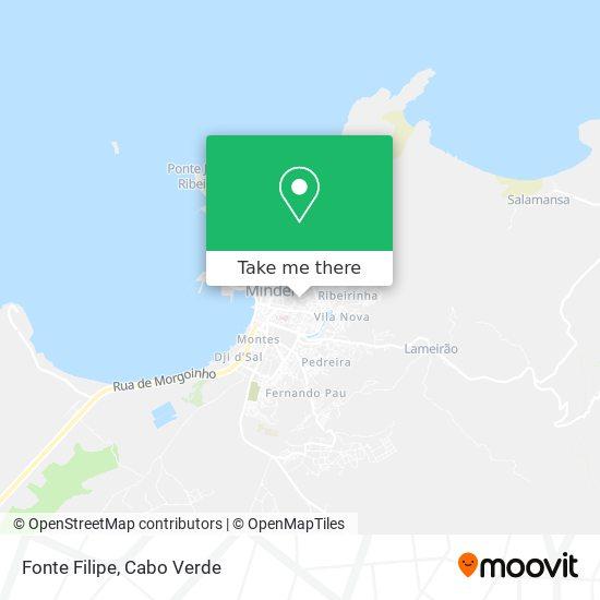 Fonte Filipe mapa