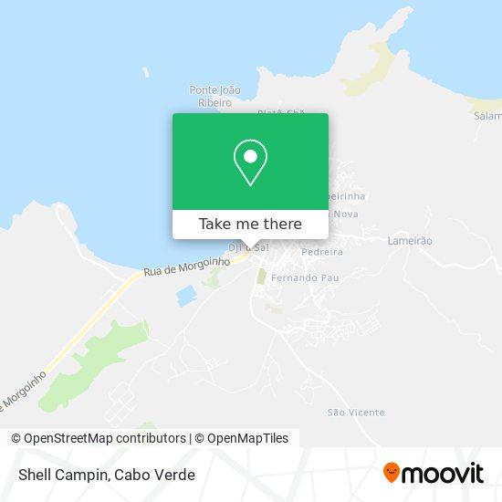 Shell Campin mapa