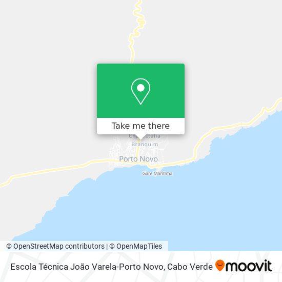 Escola Técnica João Varela-Porto Novo mapa