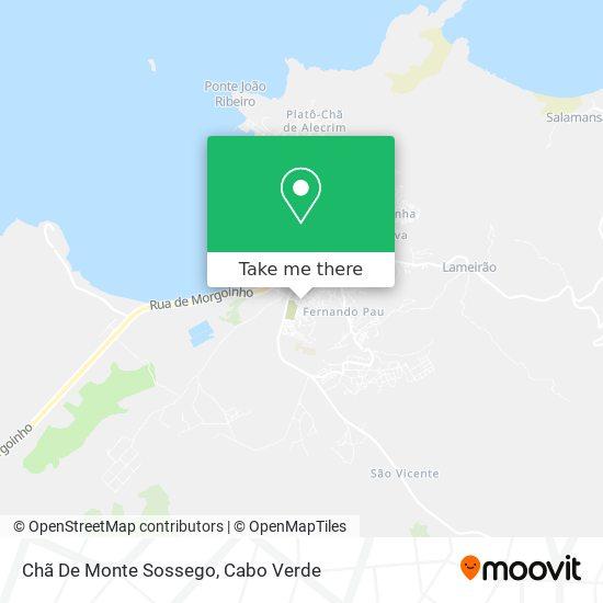 Chã De Monte Sossego mapa