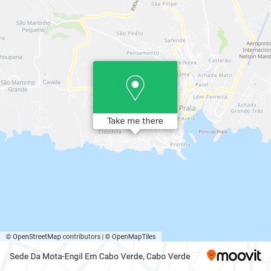 Sede Da Mota-Engil Em Cabo Verde mapa