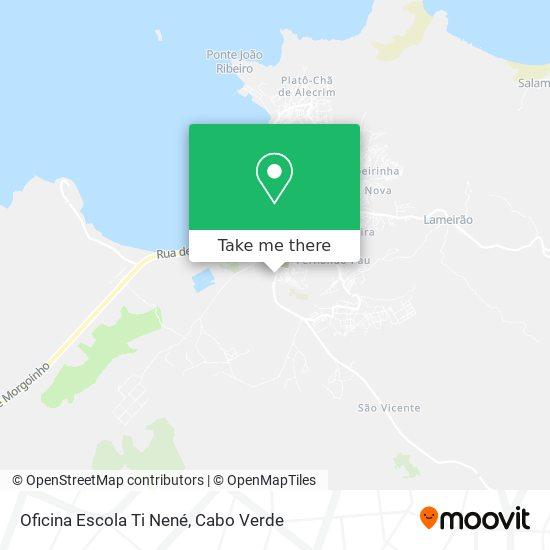 Oficina Escola Ti Nené mapa