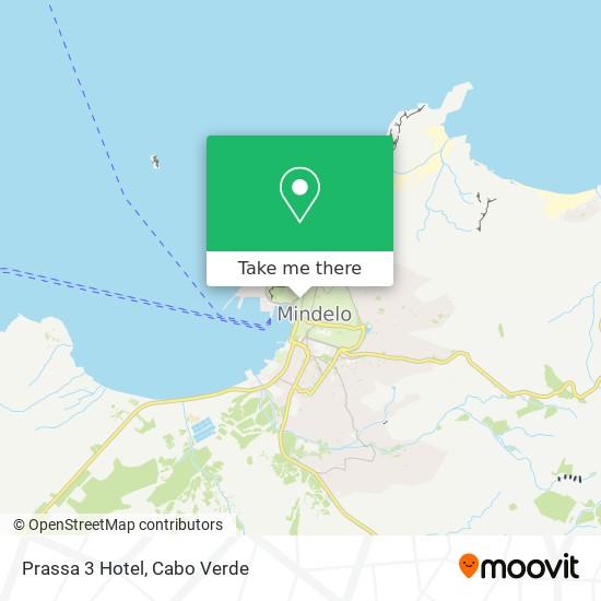 Prassa 3 Hotel mapa