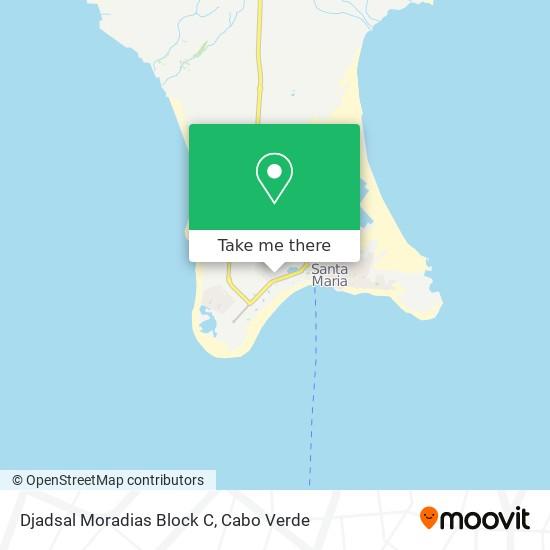 Djadsal Moradias Block C mapa