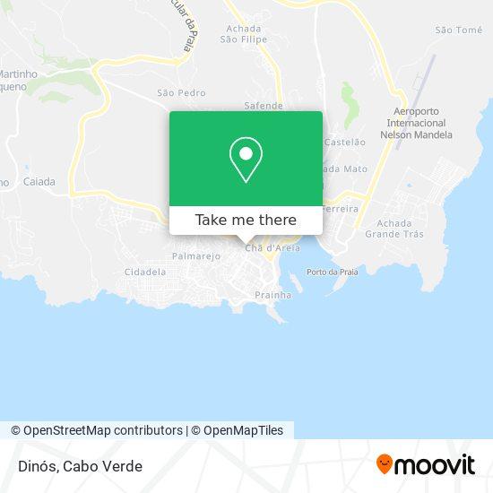 Dinós mapa