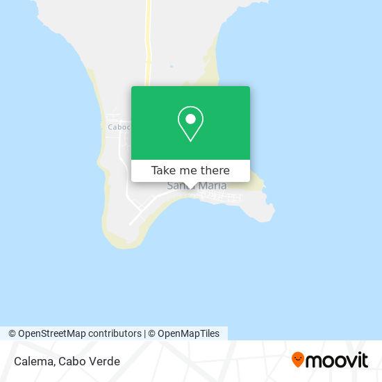 Calema mapa