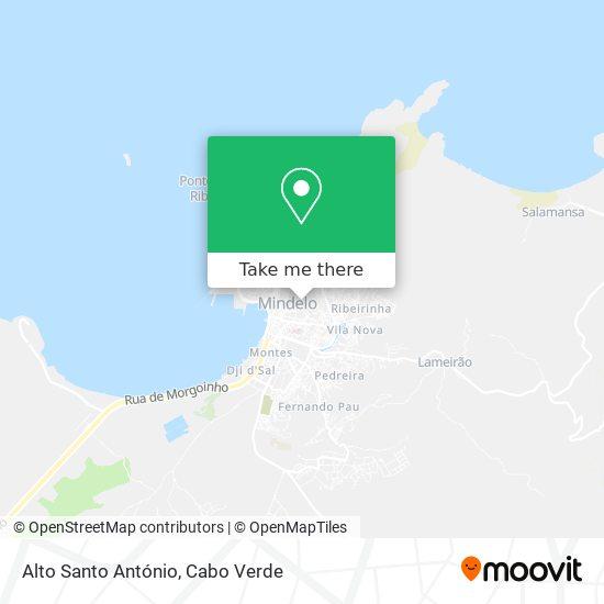 Alto Santo António mapa