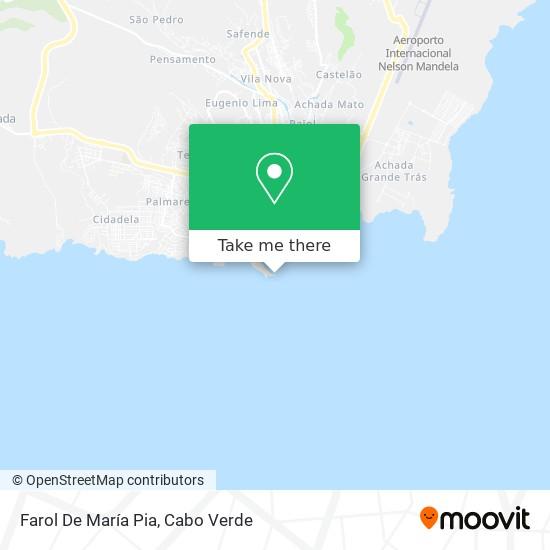 Farol De María Pia mapa