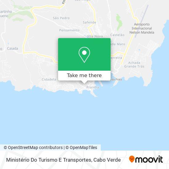 Ministério Do Turismo E Transportes mapa