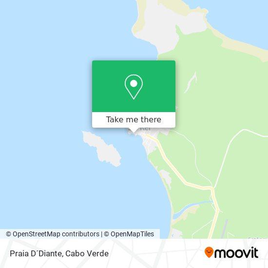 Praia D´Diante mapa