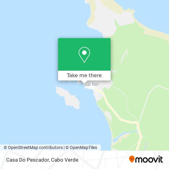 Casa Do Pescador mapa