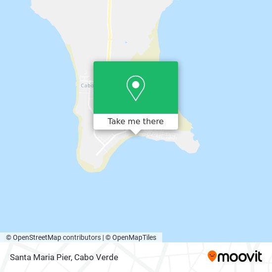 Santa Maria Pier mapa