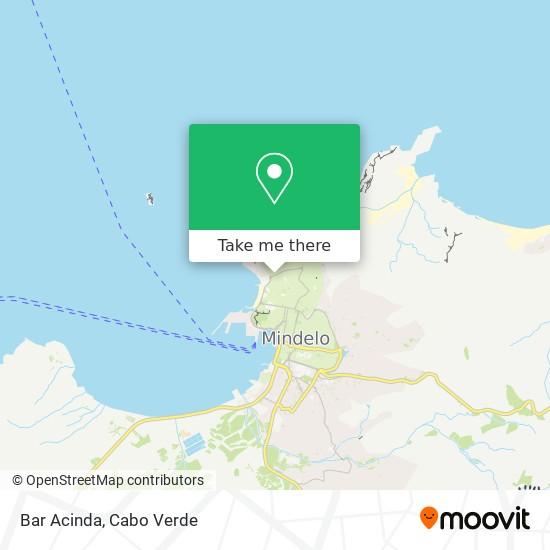 Bar Acinda mapa