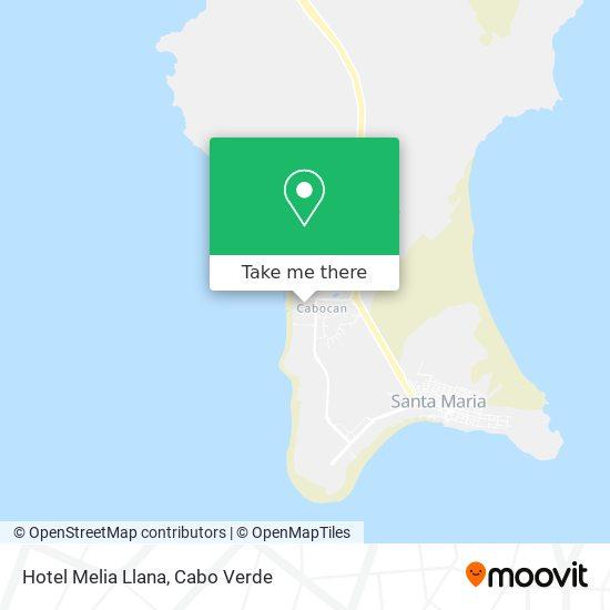Hotel Melia Llana mapa