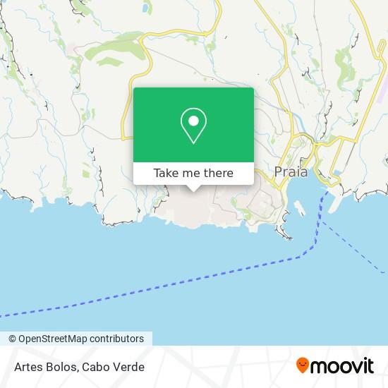 Artes Bolos mapa