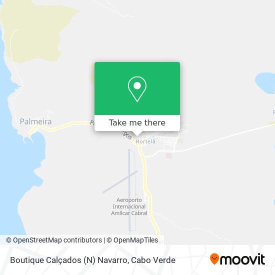 Boutique Calçados (N) Navarro mapa