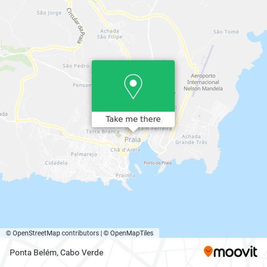 Ponta Belém mapa