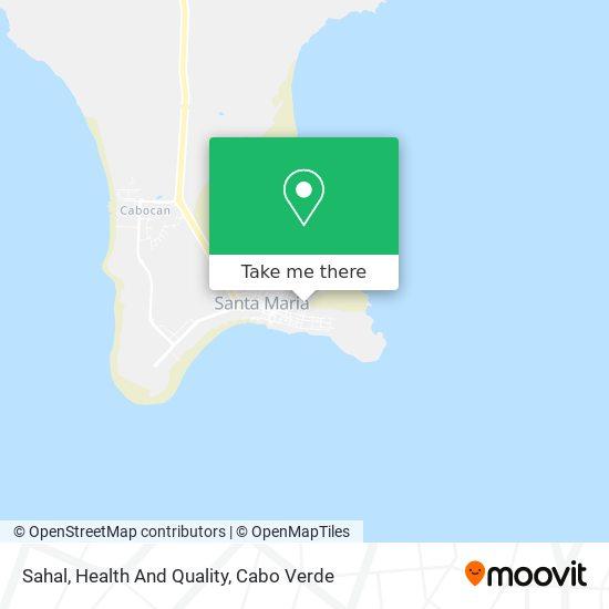 Sahal, Health And Quality mapa