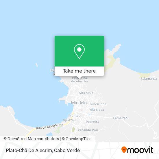 Platô-Chã De Alecrim mapa