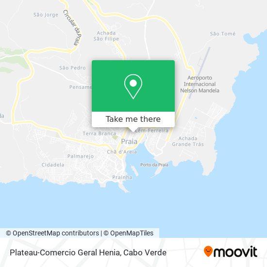 Plateau-Comercio Geral Henia mapa