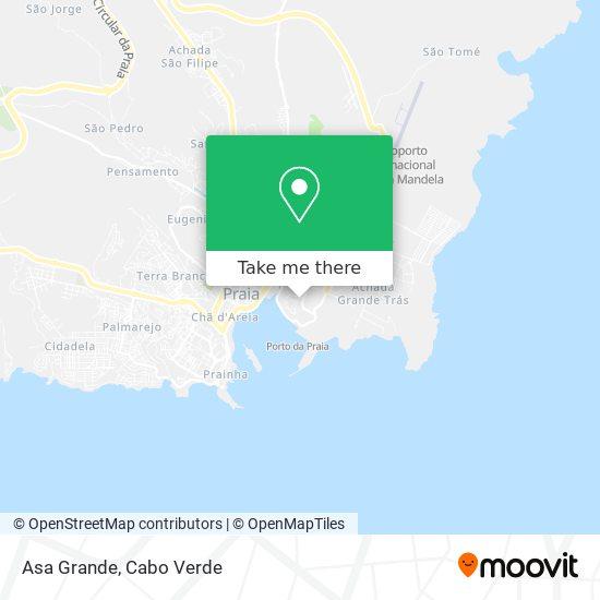 Achada Grande Tras mapa