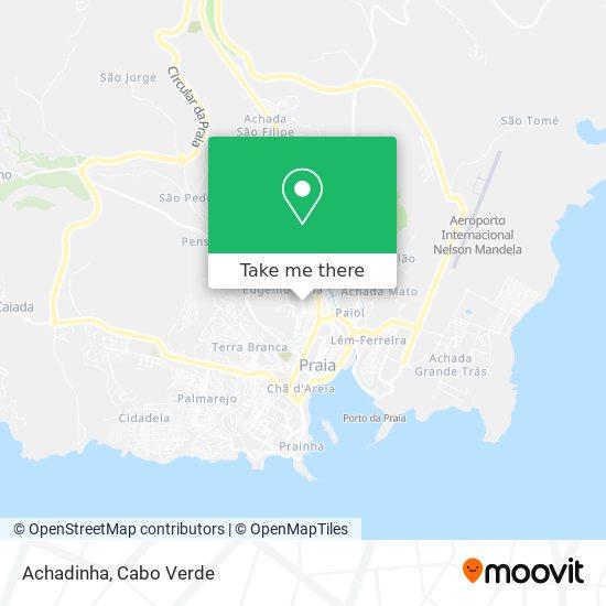 Achadinha mapa