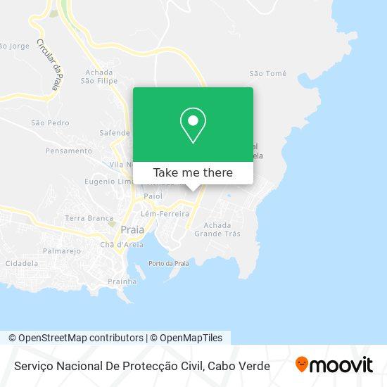 Serviço Nacional De Protecção Civil mapa