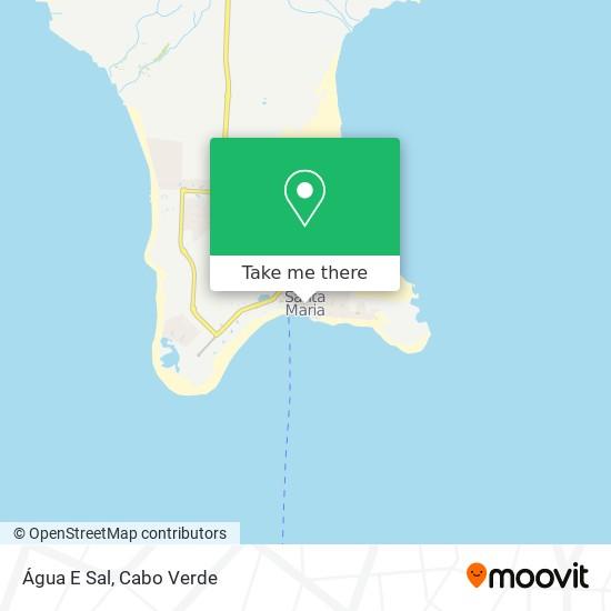 Água E Sal mapa